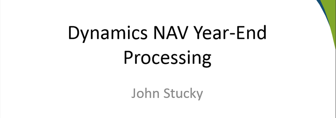 Miss the Microsoft Dynamics NAV Year-End Prep Webinar? Download the Content.