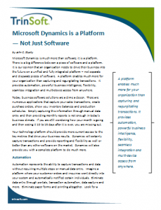 Microsoft Dynamics is a Platform