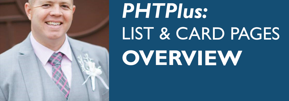 PHTPlus: List & Card Pages Overview