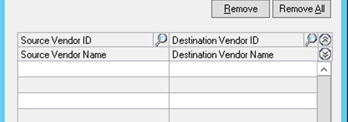 Tip: Vendor Combiner & Modifier in Microsoft Dynamics GP