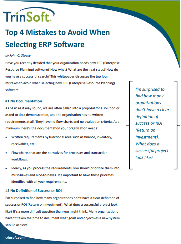 Top 4 Mistakes to Avoid When Selecting ERP Software