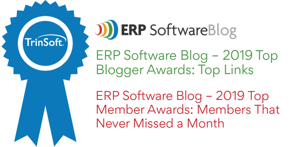 TrinSoft Receives Top Blogger and Member Awards from ERP Software Blog
