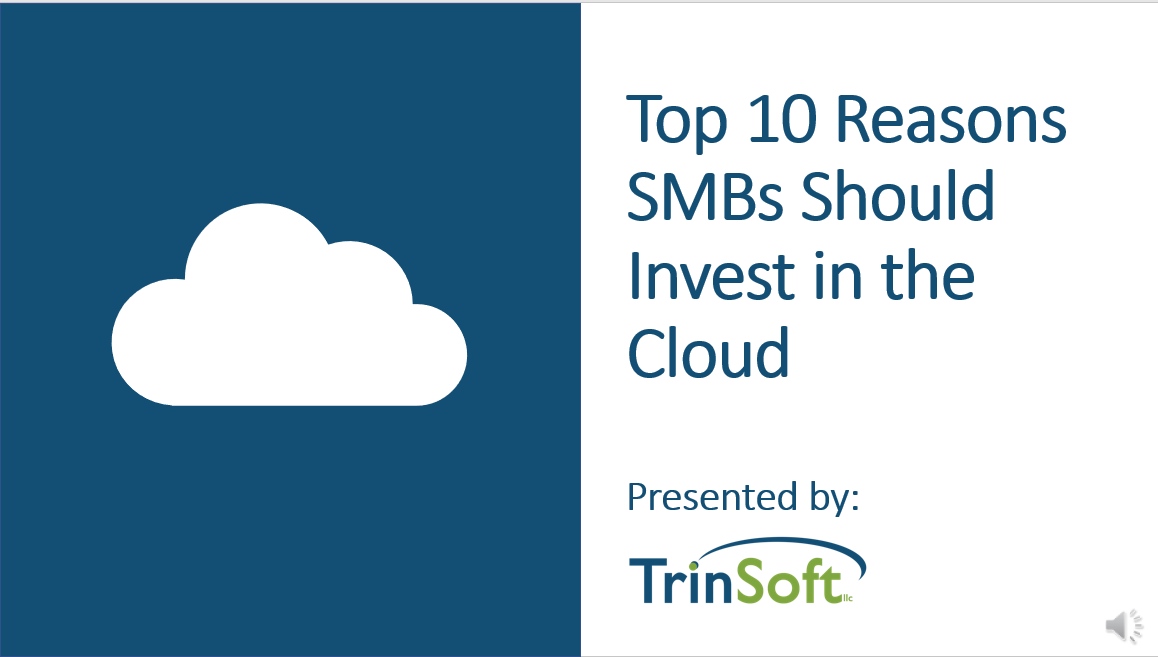 why SMBs should invest in cloud