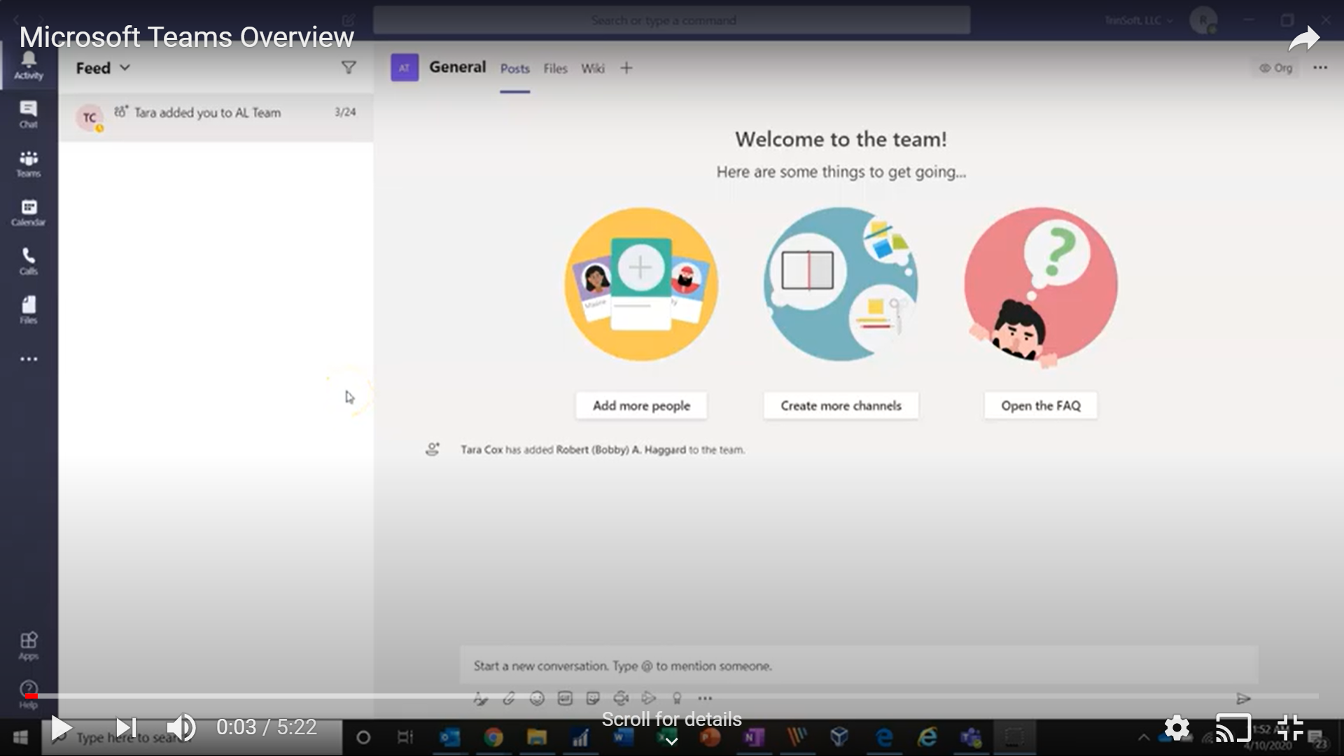 Microsoft Teams Overview Video