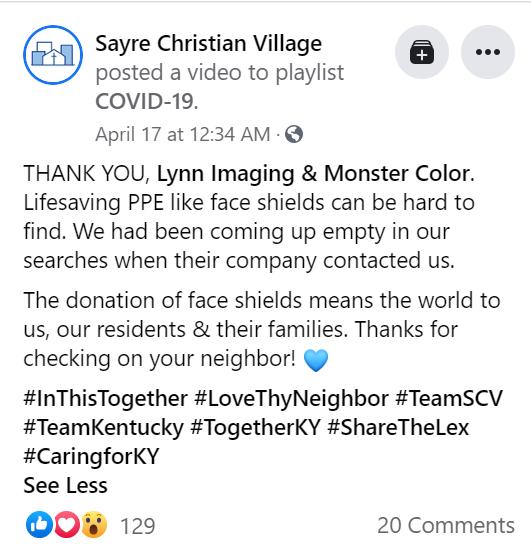 Sayre Christian Village Lynn Imaging Monster Color