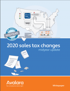 Avalara 2020 Sales Tax Changes
