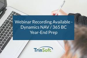 NAV D365 BC Year End Processes