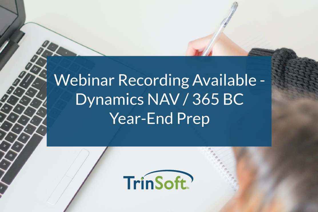 NAV D365 BC Year End Processes