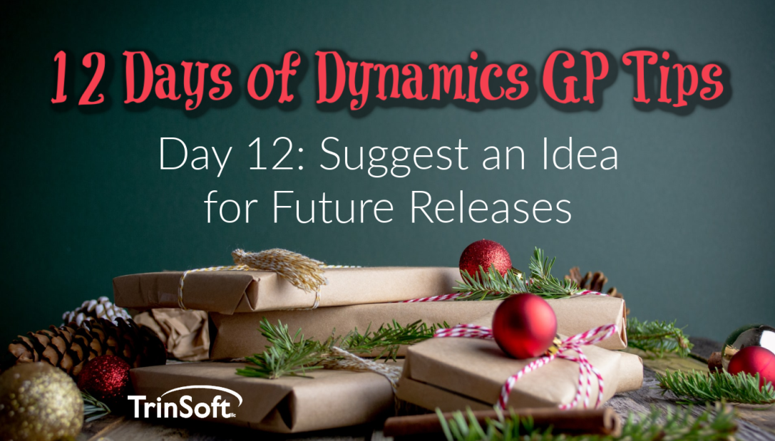 Dynamics GP tips